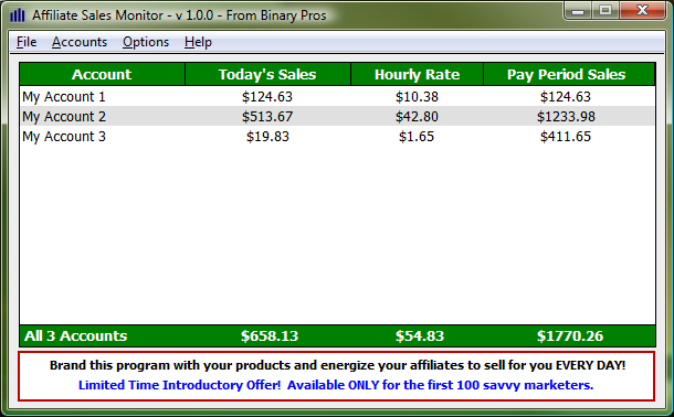 Affiliate Sales Monitor v 1.0.2 - Free Downloadable ClickBank ...